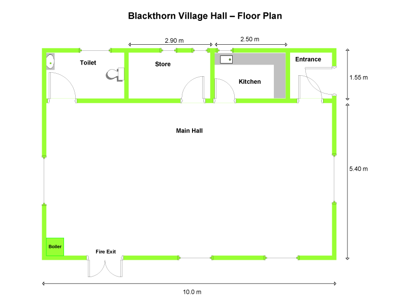 Blackthorn Village Hall Floorplan